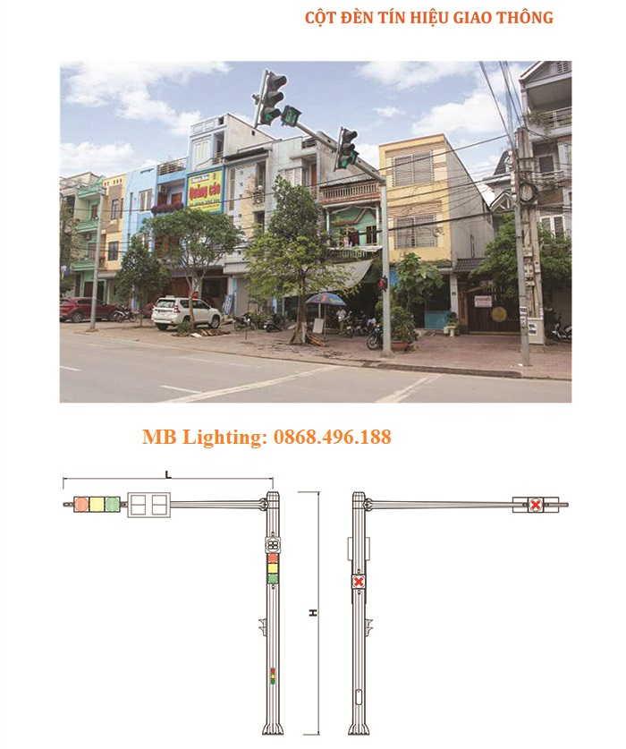 cột tín hiệu giao thông mb lighting