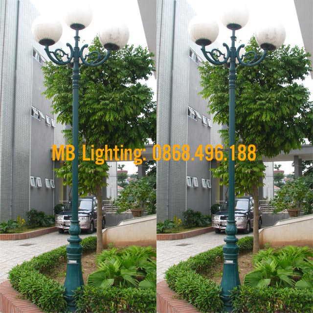 Cột sân vườn DC06, Cột đèn trang trí sân vườn đế gang DC06