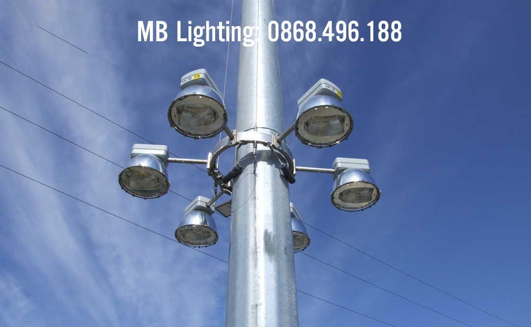 Cột đèn pha cao áp, cột đèn đa giác 14m-17m