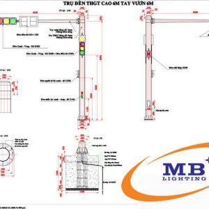 Bản vẽ thiết kế cột đèn tín hiệu giao thôn