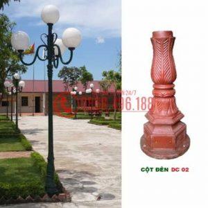 Cột sân vườn DC02, Cột đèn trang trí sân vườn đế gang DC02