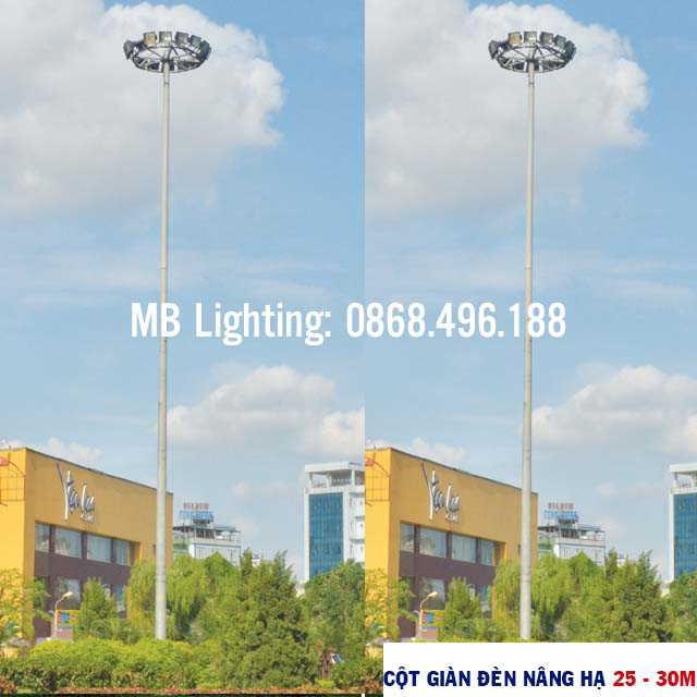 Cột giàn đèn nâng hạ 25m – 30m