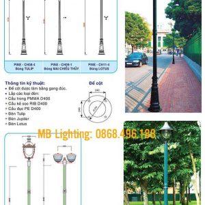 Thông số kỹ thuật của Cột sân vườn Pine