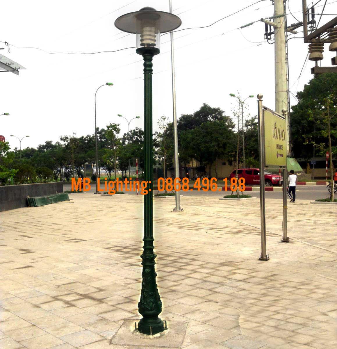 Cột đèn sân vườn bamboo cột sân vườn bamboo
