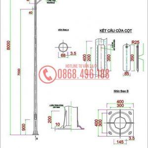 Thiết kế cột đèn sân tennis