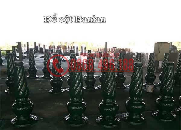 Đế Cột sân vườn Banian, Cột đèn trang trí sân vườn đế gang Banian