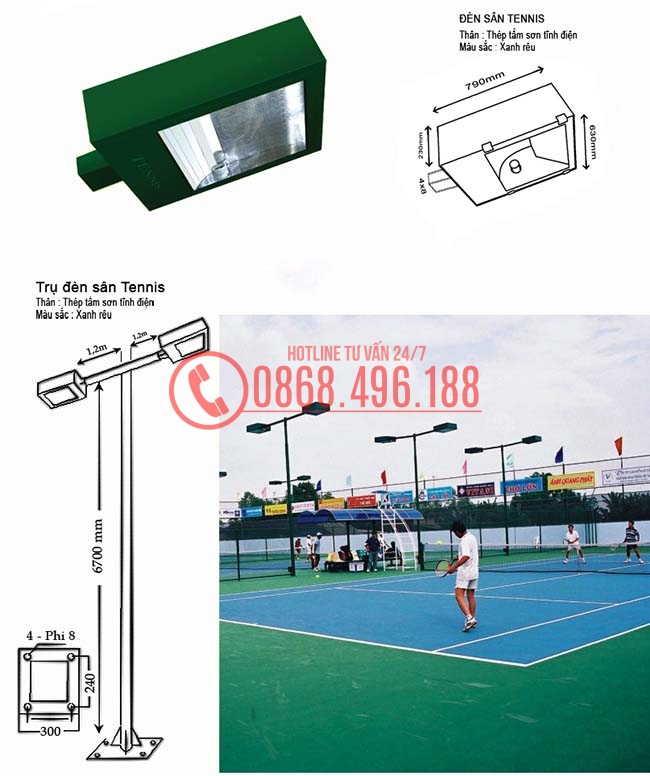thông số kỹ thuật Đèn pha chiếu sáng sân tennis công suất lớn 1000w